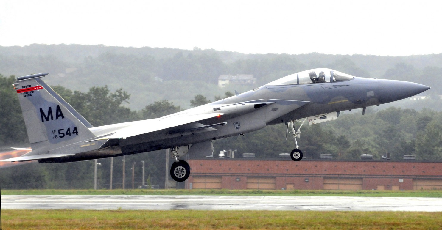 Search on for missing pilot of F-15 fighter plane that crashed in Virginia forest